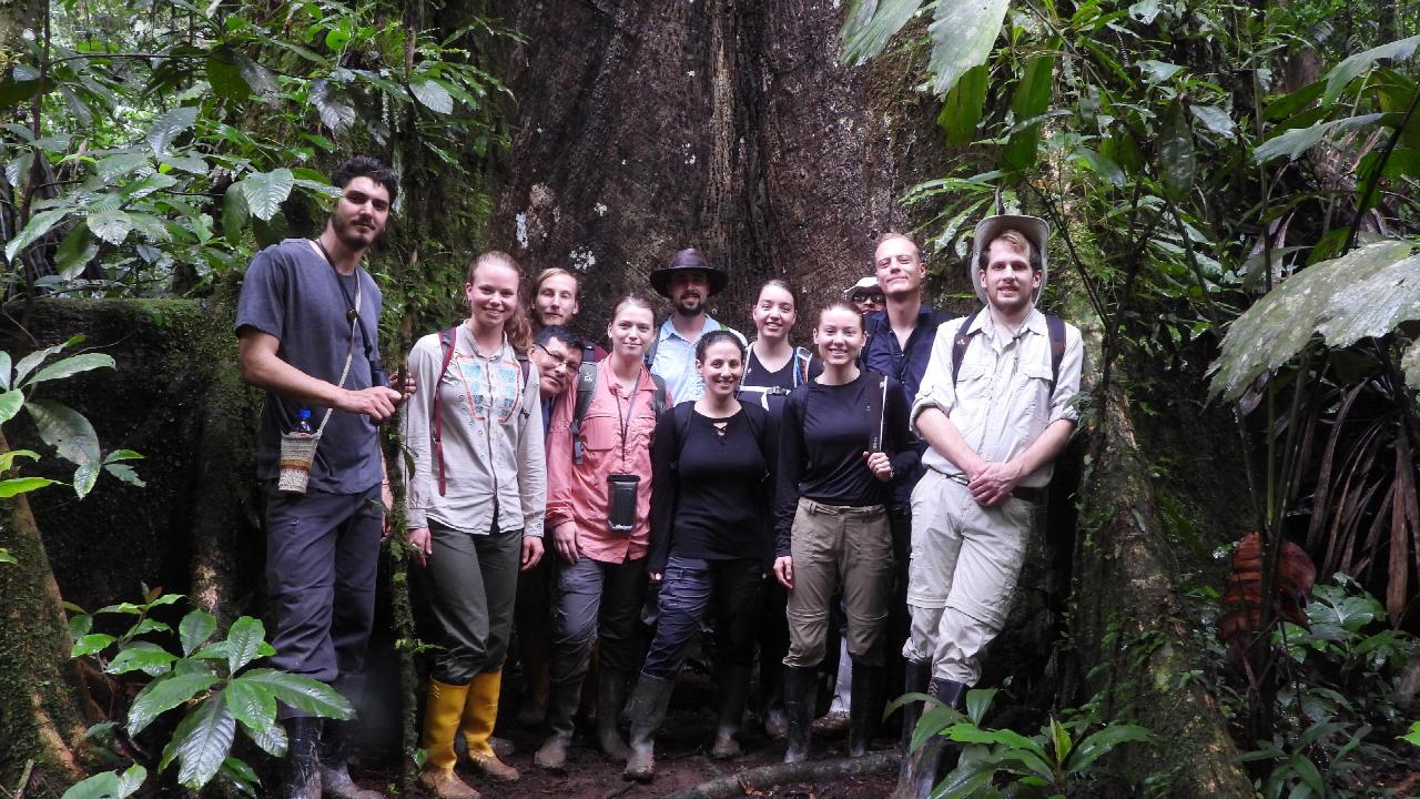 Students and supervisors in the Amazon Forest, Ecuador 2019.