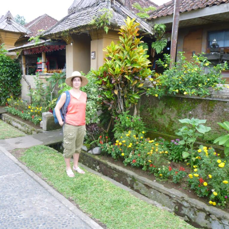 Francisca Wit enjoying the gardens during a project conference in Indonesia